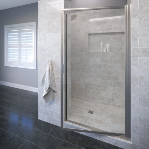 Deluxe Framed 3/16-inch Glass Swing Shower Door